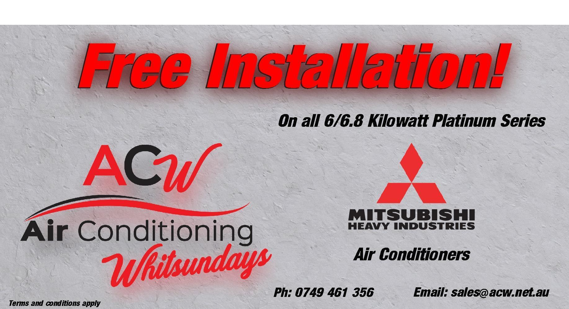 Air conditioning FREE INSTALLATION for airlie beach, cannonvale, proserpine, and whitsundays